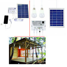 Outdoor Solar Powered LED Bulb Lamp Solar Panel Charger Home Lighting System Kit