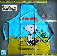 SNOOPY Peanuts PURE VINTAGE Grembiule cucina BAMBINO CHILD Apron 1980 BELLISSIMO