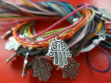 STRING tie-on bracelet or anklet HAMSA fatima hand luck karmastring karma pooja