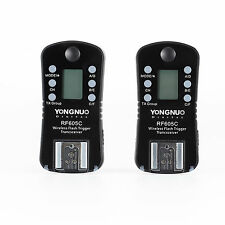 YONGNUO RF605C Flash Trigger shutter release wireless slave with LCD for Canon