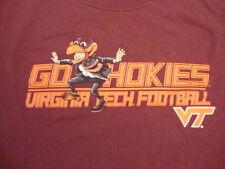 NCAA Virginia Tech Hokies College University Football Fan Student T Shirt XL