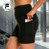 Women's Yoga Shorts With Pocket Compression Butt Lift Fitness Booty Pants Sports