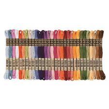 DMC Stranded Cotton Cross Stitch Thread Skein Mouline Colours 3831 to 3866 8m