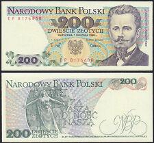 Polen - Poland - 200 Zlotych Banknote 1988 UNC Pick 144c  (13882