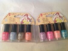 Set of 2 ORLY Color Blast Disney Belle Collection 8 Mini Nail Polish