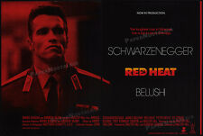 "RED HEAT__Original 1987 Trade AD / ""IN PRODUCTION"" poster__ARNOLD SCHWARZENEGGER"