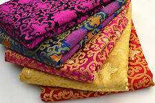 WHOLESALE!  TIBET SILK DAMASK JACQUARD BROCADE FABRIC : HOLY LOTUS DORJE CROSS