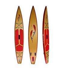 "Boutique ROI iSUP Inflatable SUP All-round 12'6"" Wood Finish"
