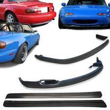 3x Combo 90-97 Mazda Miata MX5 RS Front + RS Rear + FD Side Skirts PU Bumper Lip