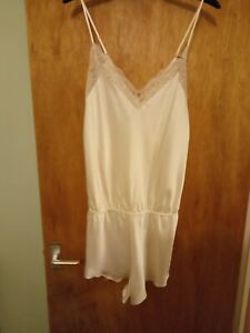 NEW M&S ROSIE FOR AUTOGRAPH IVORY SILK CAMISOLE TEDDY/PLAYSUIT SIZE 16 £49 BNWT