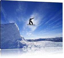 Snowboard Jump, Extreme Sports Canvas Picture Wall Decoration Art