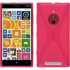 Coque en Silicone  Nokia Lumia 830 - X-Style rose chaud + films de protection