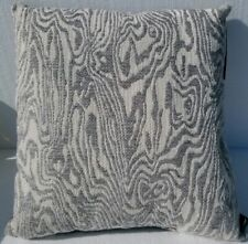 "Hallmart Collectibles Blush Abstract Textured Square Pillow 18""- Grey/Ivory"