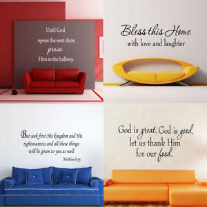 Bible Scripture Wall Decals Word Vinyl Removable Sticker Verse Quote Art Decor