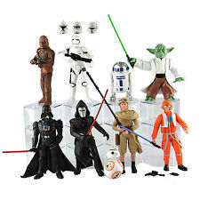9Pcs Set Star Wars Figure Collection Toys Darth Vader Kylo Ren Stormtrooper Yoda