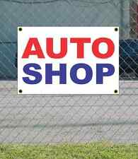 2x3 AUTO SHOP Red White & Blue Banner Sign NEW Discount Size & Price
