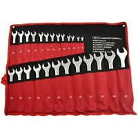 25pc Metric Combination Open And Ring Spanner Wrench Set 6mm - 32mm AN012