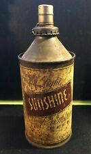 SUNSHINE LIGHT Premium 12 oz cone top modified oil lamp Beer Can - READING PA