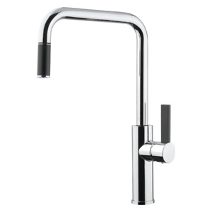 Abey Armando Vicario Luz Pull-out Chrome Kitchen Sink Mixer MADE IN ITALY