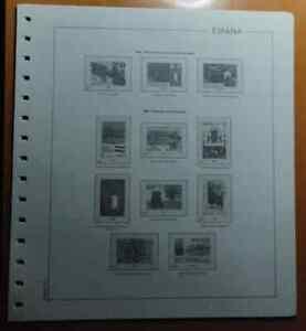 Suplemento hojas ANFIL año 1984 España Montado transparente
