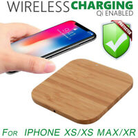 QI Wireless Slim Natural Wood Charger Mat Charging Pad For Iphone XS/XS Max/XR