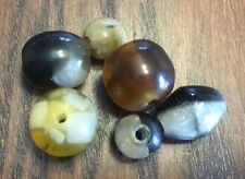 Vintage Trade Sample Card Mixed Brown Black Yellow Old Plastic Mix Shape Beads