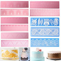 Lace Silicone Mold Sugar Craft Fondant Mat Cake Decorating Baking Tools