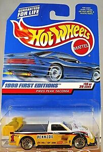 1999 Hot Wheels #924 First Editions 19/26 PIKES PEAK TACOMA Yellow w/Gold LaceSp