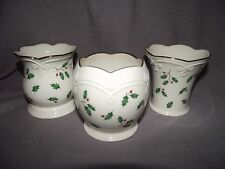 Set of 3 Lenox Holiday Dimension Votive Candle Holders with Tags