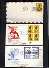 UN United Nations 1963 First Day Of Issue FDC Covers Set of 3