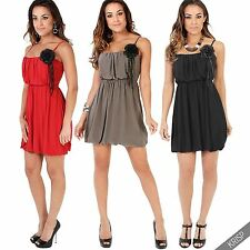 Polyester Square Neck Casual Sleeveless Dresses for Women
