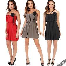 Square Neck Patternless Casual Sleeveless Dresses for Women
