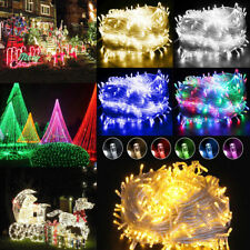 10-100M Outdoor Fairy Lights 100LED-600LED Waterproof Warm White Christmas Tree