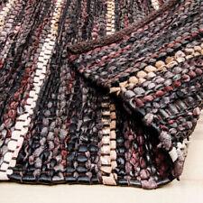 Wohnraum-Teppiche aus Leder mit geometrischem Muster Handgewebte