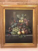 Vintage beautifully executed still Life Original Oil Painting. Realism Style.