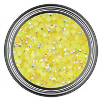 AB Yellow Resin Rhinestone Gem - 2mm 3mm 4mm 5mm 6mm - Flatback - Nail Art