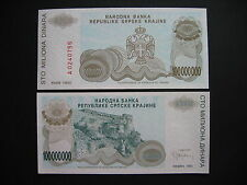 CROATIA  100 Million Dinara 1993  KNIN  (PR25a)  UNC