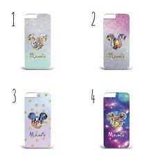 PERSONALISED MICKEY GALAXY GLITTERY PLASTIC Phone Case for SAMSUNG