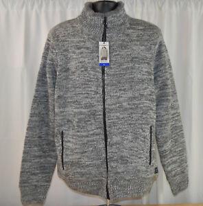 Buffalo David Bitton Men's Full Zip Faux Fur Lined Sweater Jacket - VARIETY!