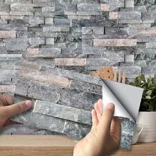 3D Tapete Wasserfest Haus Wandpaneele Wandaufkleber Mosaik Selbstklebend Ziegel