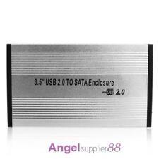 3.5'' USB 2.0 SATA External HDD HD Hard Drive Enclosure Case Box for Laptop