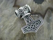 Ketten Anhänger Celtic THORS HAMMER Keltischer Knoten mit Eule Celtic Silber 925