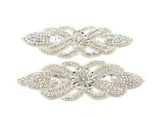 Beautiful Various Colour Crystal Rhinestone Applique Sewing Iron On Bridal Patch