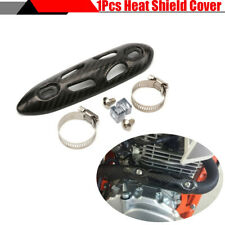 1x Carbon Fiber Exhaust Pipe Heat Shield Cover Guard For Dirt Bike Motorcycle