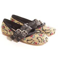 miu Bailarinas Talla D 37 MULTICOLOR Zapatos Mujer Pisos LOAFER Mocasines Nuevo