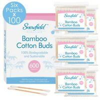 Bamboo Cotton Buds x 600 Wooden ECO Friendly Makeup Earbuds Biodegradable Vegan