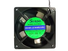 SEADA SA1238A2 Aluminum frame cooling fan 220/240VAC 0.09A 120*120*38mm 2wire