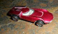 1969 Hot Wheels Redline Turbofire Metallic ROSE RED WHITE INTERIOR  USA