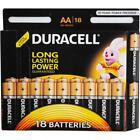 18 Pack Genuine Duracell AA Alkaline Batteries Duralock 100% Brand New