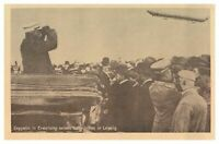 Antique WW1 military German printed postcard Zeppelin in Erwartung Seines